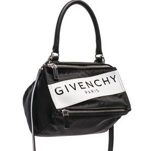 GIVENCHY Nylon Small Pandora Logo Messenger Bag